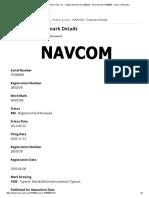 NAVCOM Trademark of Steven Sims, Inc