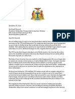 2016 12 15 - Mayor Tory's Letter to Bombardier Re Streetcar Delivery