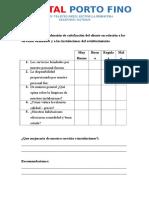 Hostal Porto Fino Cuestionario