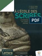Musée de Lattes_A l'École Des Scribes Les Écritures de l'Egypte Ancienne_Juillet 2016