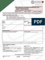 Fiches de Candidature Odontologie Prothetique Mention Prothese Conjointe