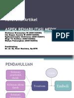 Ppt Refrat Aspek Rehabmedik Pada Dvt