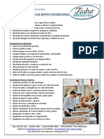 Carta de Buffet Internacional - 2013
