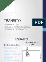 Elementos en La Ingenieria de Transito