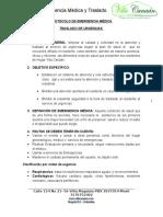 Protocolo de Emergencia Medica y Traslado