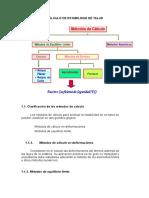 Métodos de Cálculo de Estabilidad de Talud