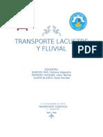 Transporte Fluvial y Lacustre
