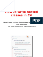 How to Write Nested Classes in C