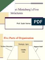Mintzberg Five Structures