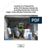 Assessment of Proposal to Strengthen Svg Banana Industry