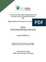 Diversidad Biológica Agrícola