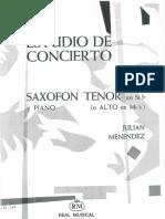 Estudio de Concierto Menendez - Tenor i Piano
