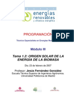 Tema 1.2 - Origen Solar de La Energía de La Biomasa