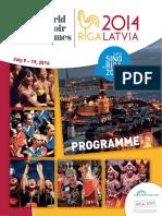 World Choir Games 2014 - Programme