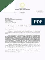 Luther Strange Letter to Victor Gaston
