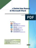 Menulis Simbol Dan Rumus Di Microsoft Word