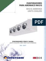 Evaporadores de Amoniaco NH3 G Cubicos y Mural