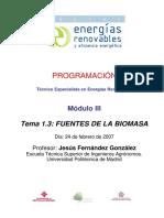 Tema 1.3 - Fuentes de La Biomasa