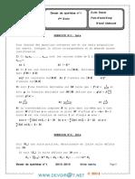 Devoir de Contrôle N°1 Avec correction- Math etude de fonctions-fonctions réciproques-suites réelles-nombres complexes - Bac Math (2014) Mr mhamdi abderrazek (1)