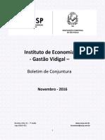 Boletim de Conjuntura ACSP Novembro 2016