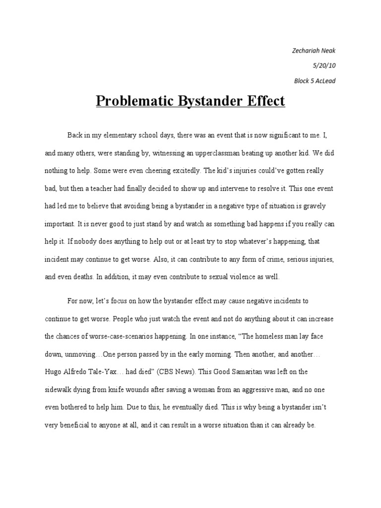good cause and effect essays essay drug academic guide to writing  bystander effect essay bystander effect the bystander effect my bystander effect essay