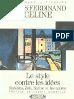 Céline - Le Style Contre Les Idées