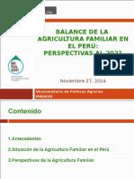 Balance Agricultura Familiar Perspectivas Cesar Sotomayor MNAGRI