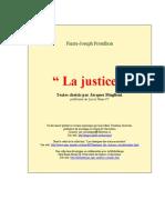 (Bibliothèque Identitaire) Pierre-Joseph Proudhon - La Justice (1962) - eBook Fr Socio Science-Politique