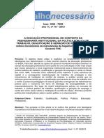 SOUZA, J. A EDUCAÇÃO PROFISSIONAL NO CONTEXTO DA.pdf