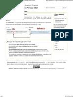 Definicion Cita y Referencia y Funciones