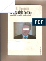 El Escándalo  Político. John B. Thompson