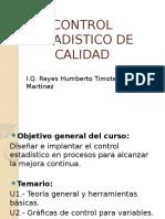 Control Estadistico de Calidad- Teoría Calidad Unidad 1