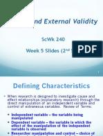 ScWk 240 Week 5 2nd Set Slides Internal and External Validity