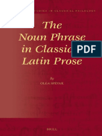 The Noun Phrase in Classical Latin Prose - Olga Spevak (2014)