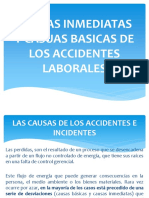 Causas Inmediatas y Casuas Basicas de Los Accidentes