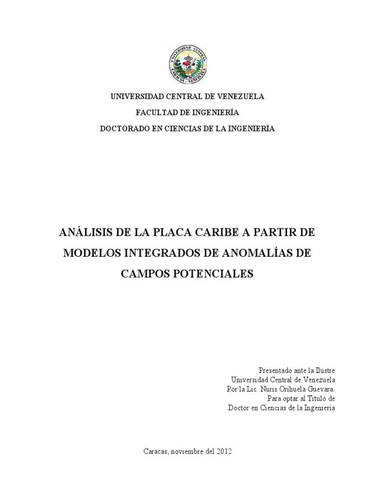 ANÁLISIS DE LA PLACA CARIBE A PARTIR DE MODELOS INTEGRADOS DE ...