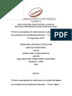Infotmr Corregiso Pedro Facultad de Ciencias de La Salud