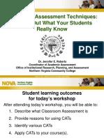 Classroom Assessment Techniques: