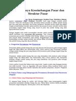 Terbentuknya Keseimbangan Pasar Dan Struktur Pasar