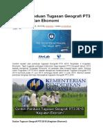 Contoh Panduan Tugasan Geografi PT3 2015 Kegiatan Ekonomi