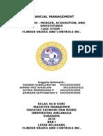 Merger, Acquisition, And Divestitures - Flinder Valves and Controls