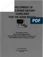 Development food based dietary guidelines for Asian region