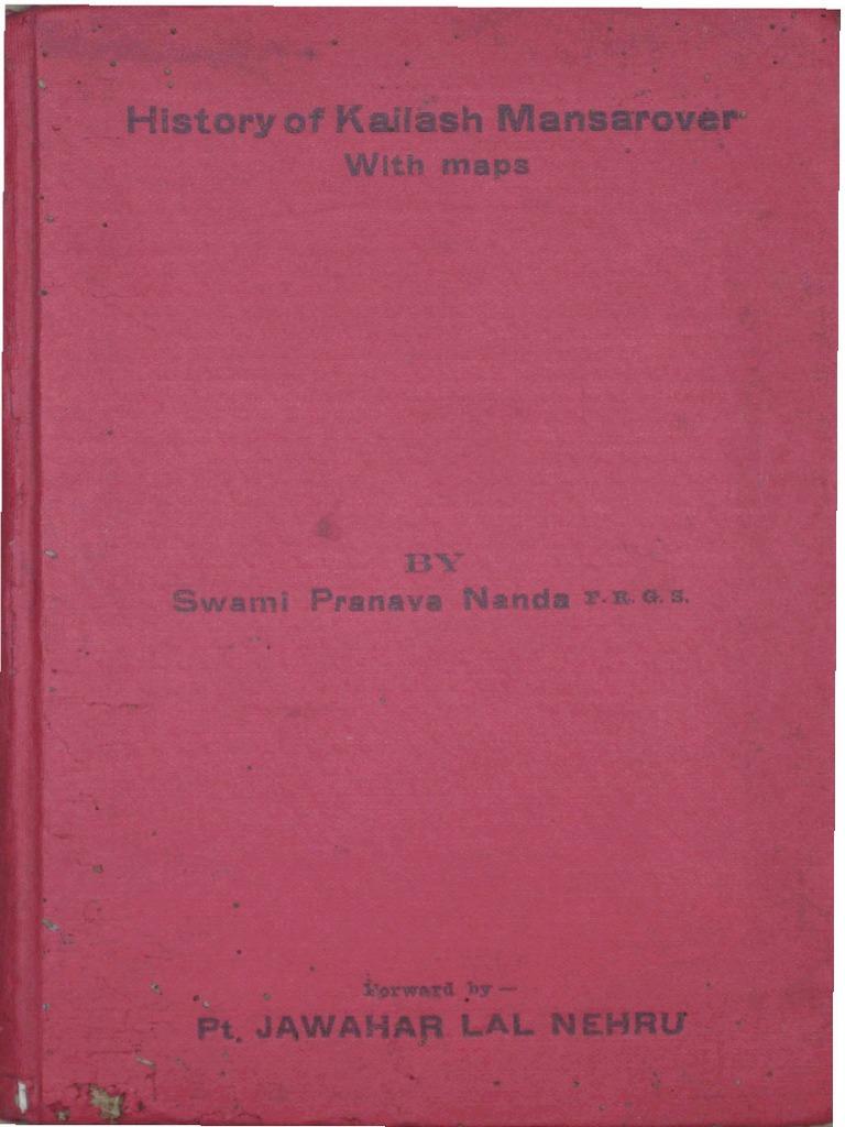 History of Kailash Manasarovar with Maps by Swami Pranavananda ... d17b7e01ee