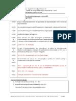 Cronograma Gestão Do Design e Estratégia Empresarial