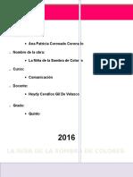 Informe La Niña de La Sombra de Colores