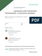 Social Entrepreneurs and Community Development