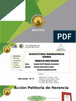 Accion Petitoria y Reivindicatoria de Herencia
