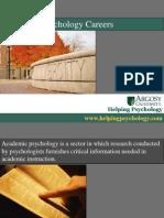 Academic Psychology Careers