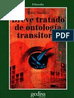 Breve Tratado de Ontología Transitoria - Alain Badiou