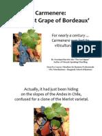 Carmenere Viticulture Official Presentation